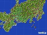 東海地方のアメダス実況(気温)(2020年07月07日)
