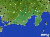 静岡県のアメダス実況(気温)(2020年07月07日)