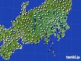 関東・甲信地方のアメダス実況(風向・風速)(2020年07月07日)
