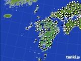 九州地方のアメダス実況(風向・風速)(2020年07月07日)