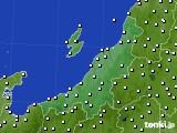 新潟県のアメダス実況(風向・風速)(2020年07月07日)