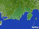 静岡県のアメダス実況(風向・風速)(2020年07月07日)