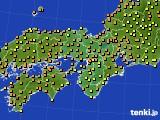 2020年07月08日の近畿地方のアメダス(気温)