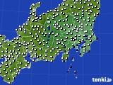 2020年07月08日の関東・甲信地方のアメダス(風向・風速)