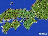 2020年07月09日の近畿地方のアメダス(気温)