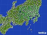 2020年07月09日の関東・甲信地方のアメダス(風向・風速)