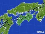 四国地方のアメダス実況(降水量)(2020年07月11日)