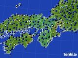 近畿地方のアメダス実況(日照時間)(2020年07月11日)