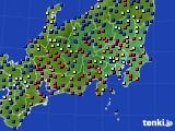 関東・甲信地方のアメダス実況(日照時間)(2020年07月12日)