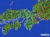 近畿地方のアメダス実況(日照時間)(2020年07月12日)
