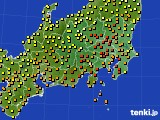 関東・甲信地方のアメダス実況(気温)(2020年07月12日)