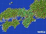 2020年07月12日の近畿地方のアメダス(気温)