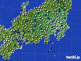 関東・甲信地方のアメダス実況(風向・風速)(2020年07月12日)
