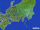 関東・甲信地方のアメダス実況(降水量)(2020年07月13日)