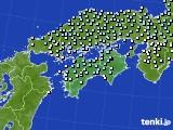 四国地方のアメダス実況(降水量)(2020年07月13日)