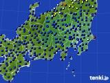 関東・甲信地方のアメダス実況(日照時間)(2020年07月13日)