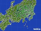 2020年07月13日の関東・甲信地方のアメダス(風向・風速)