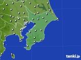 2020年07月13日の千葉県のアメダス(風向・風速)