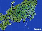 関東・甲信地方のアメダス実況(日照時間)(2020年07月14日)
