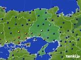 兵庫県のアメダス実況(日照時間)(2020年07月14日)