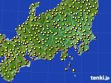 関東・甲信地方のアメダス実況(気温)(2020年07月14日)