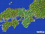 2020年07月14日の近畿地方のアメダス(気温)