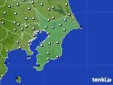 2020年07月14日の千葉県のアメダス(風向・風速)