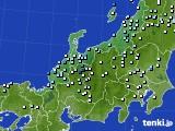 北陸地方のアメダス実況(降水量)(2020年07月15日)