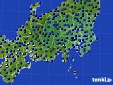 関東・甲信地方のアメダス実況(日照時間)(2020年07月15日)