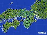 近畿地方のアメダス実況(日照時間)(2020年07月15日)