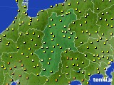 長野県のアメダス実況(気温)(2020年07月15日)