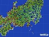 関東・甲信地方のアメダス実況(日照時間)(2020年07月16日)