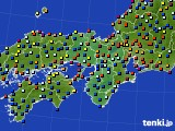 近畿地方のアメダス実況(日照時間)(2020年07月16日)