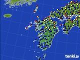 九州地方のアメダス実況(日照時間)(2020年07月16日)
