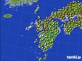 九州地方のアメダス実況(気温)(2020年07月16日)