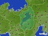 滋賀県のアメダス実況(気温)(2020年07月16日)