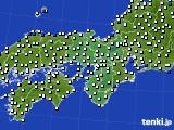 近畿地方のアメダス実況(風向・風速)(2020年07月16日)