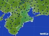 三重県のアメダス実況(日照時間)(2020年07月17日)