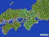 2020年07月17日の近畿地方のアメダス(気温)