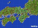 2020年07月18日の近畿地方のアメダス(気温)