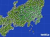 2020年07月18日の関東・甲信地方のアメダス(風向・風速)