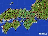 2020年07月19日の近畿地方のアメダス(気温)