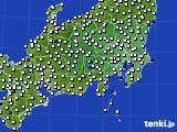 2020年07月19日の関東・甲信地方のアメダス(風向・風速)