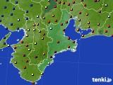 三重県のアメダス実況(日照時間)(2020年07月22日)