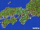 2020年07月22日の近畿地方のアメダス(気温)