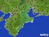 2020年07月22日の三重県のアメダス(気温)
