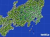 2020年07月22日の関東・甲信地方のアメダス(風向・風速)