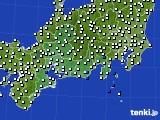 東海地方のアメダス実況(風向・風速)(2020年07月23日)