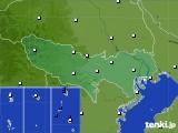 東京都のアメダス実況(風向・風速)(2020年07月23日)