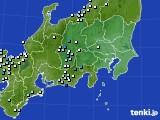関東・甲信地方のアメダス実況(降水量)(2020年07月24日)